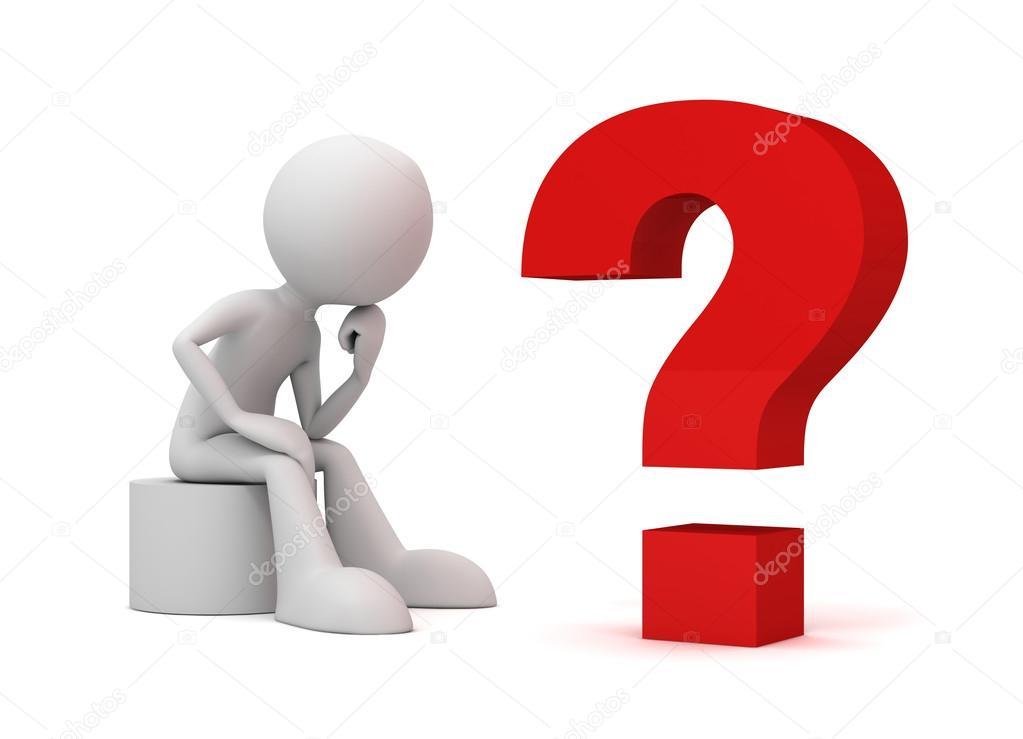 illustration de concept de point d'interrogation et de l ...