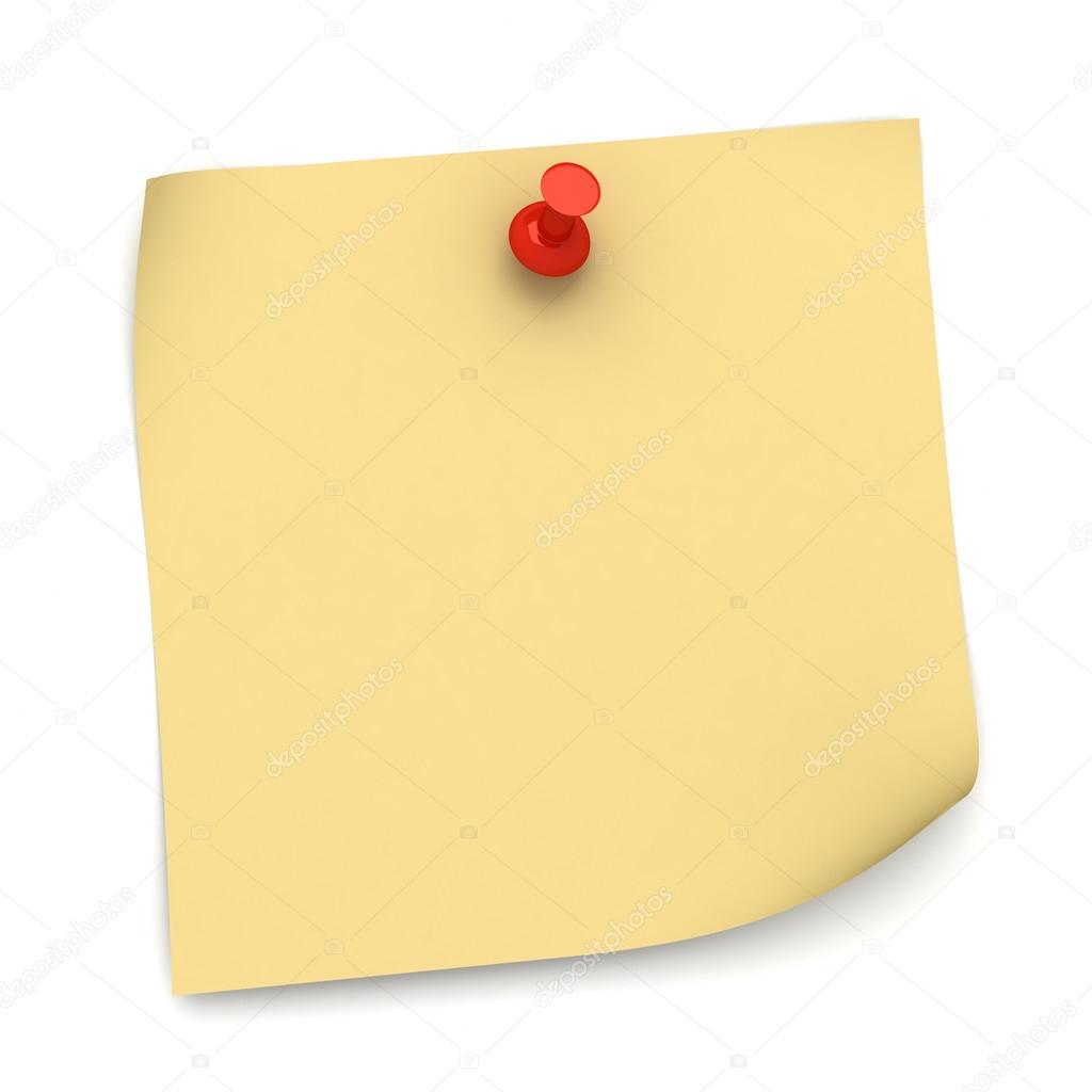 Post-it Note Papier Konzept Abbildung