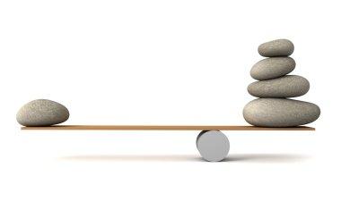 balancing stones 3d illustration