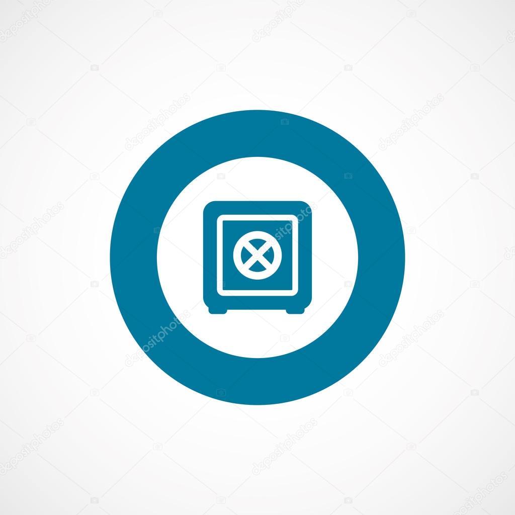 Bank sicher Fett blauen Rahmen Kreis ico — Stockvektor ...