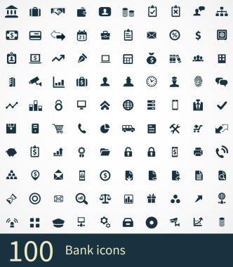 100 bank icons se