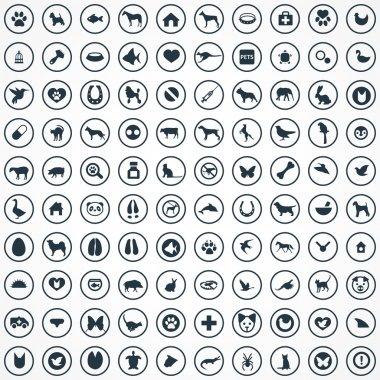 100 animals, pets icons se