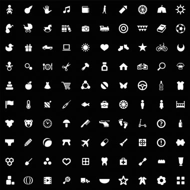 100 baby, kids icons se