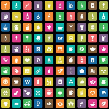 100 drinks icons se