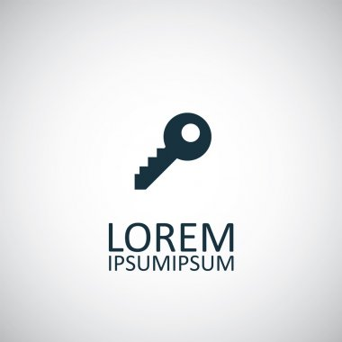 Key isolated black icon log