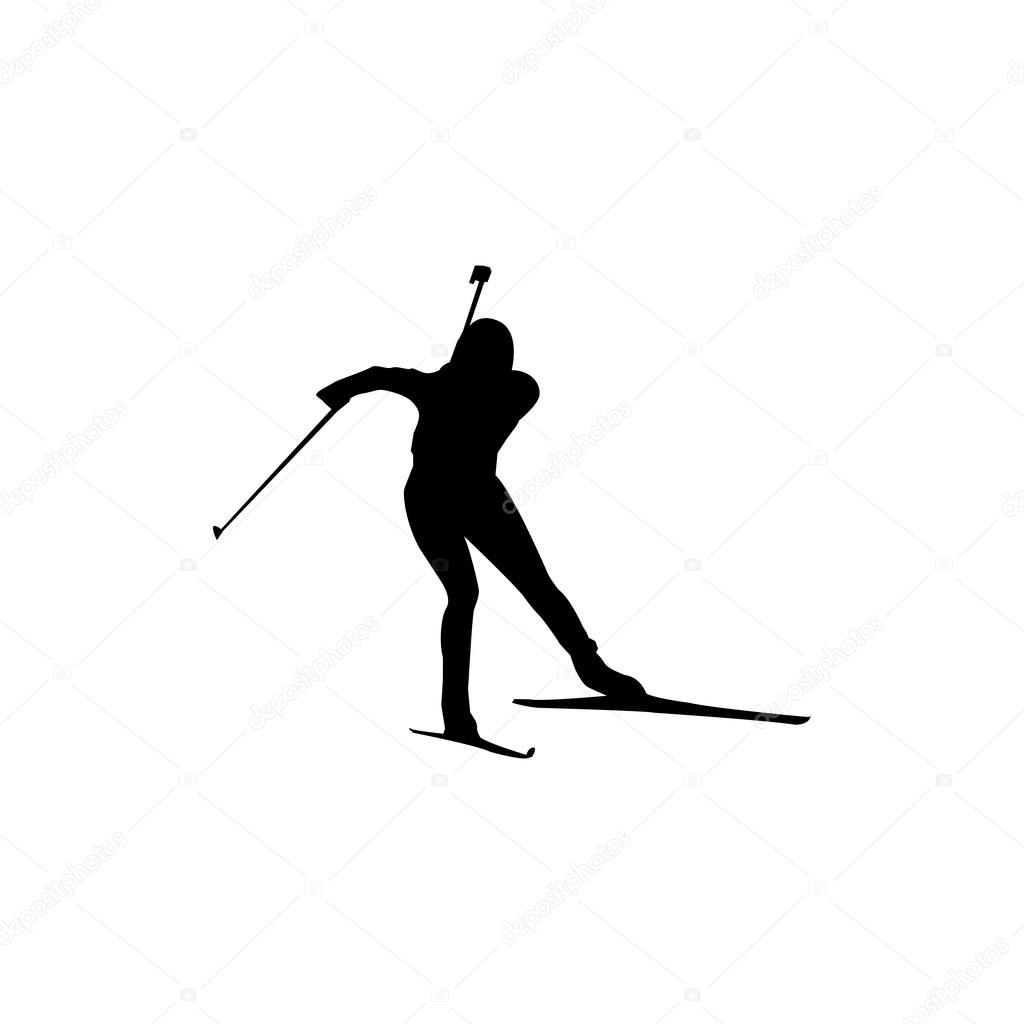 биатлонист картинка черно белая помощью