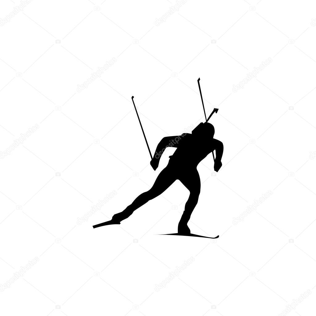 удобно биатлонист картинка черно белая цены