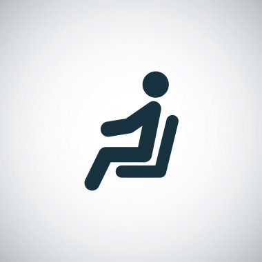 seating man icon