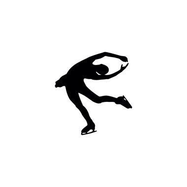 figure skating individual, silhouettes