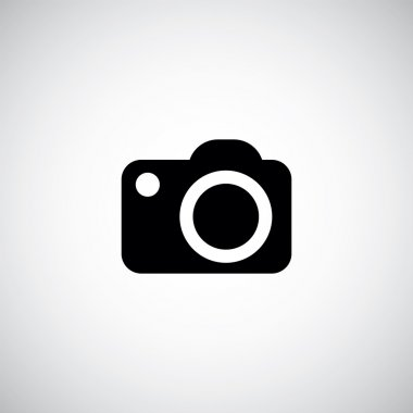 Photo camera icon on white backgroun stock vector