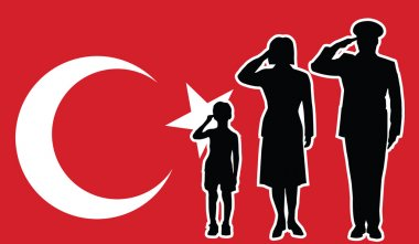 Turkey soldier family salute
