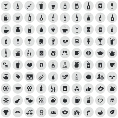 100 drinks icons