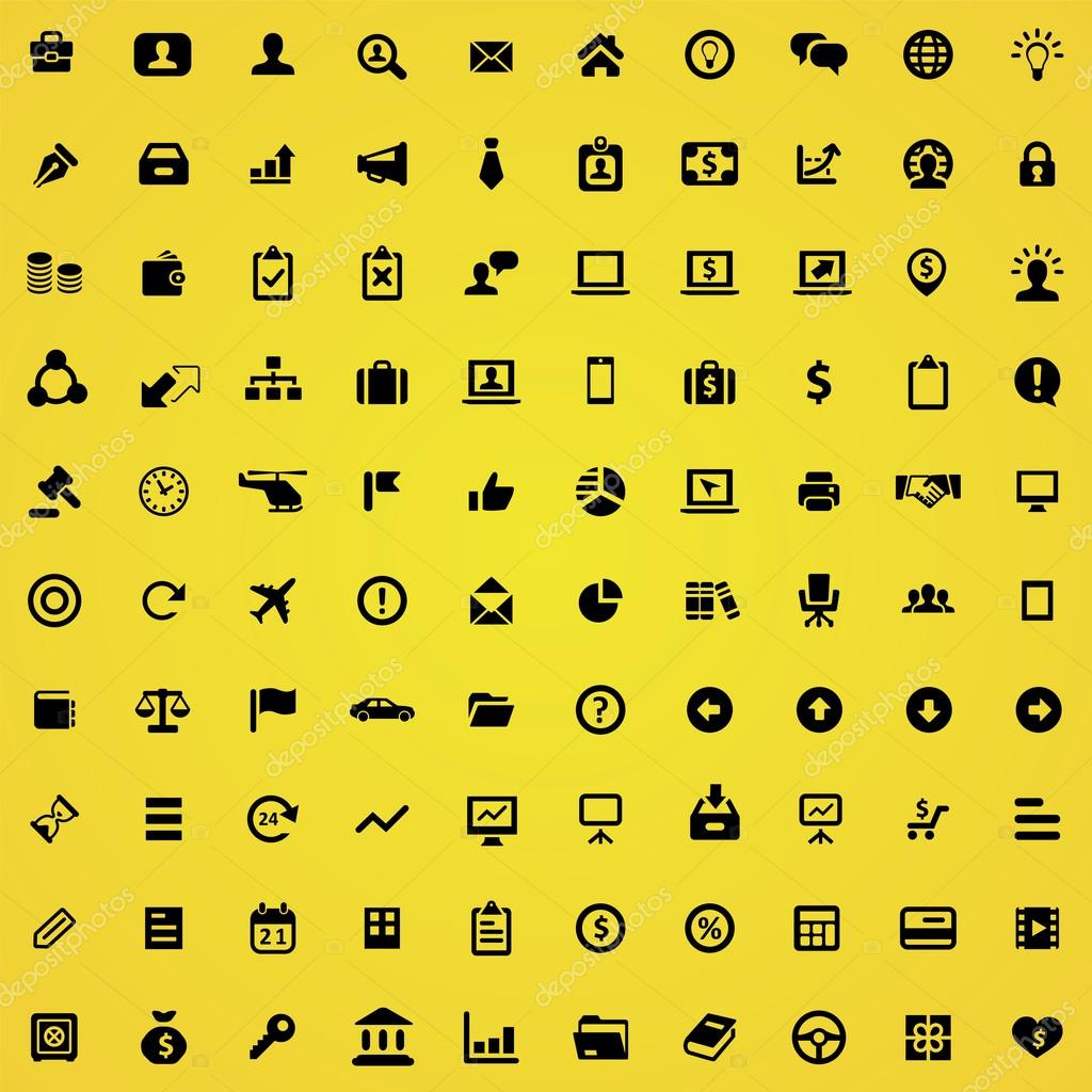 100 Business icons