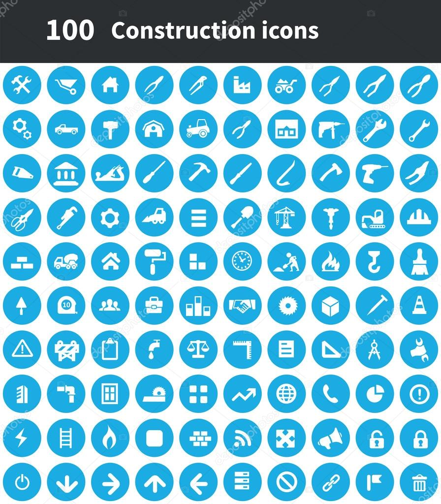 100 construction icons