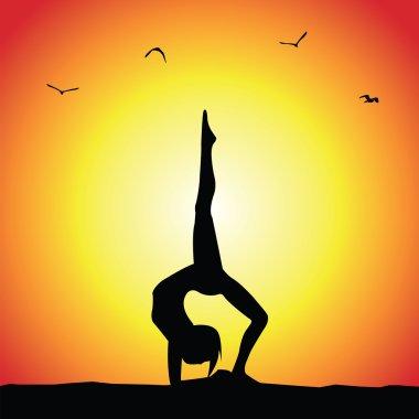 yoga pose silhouett