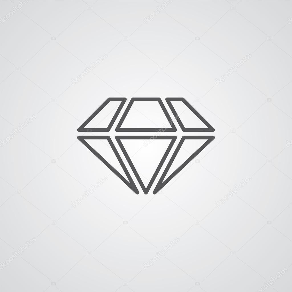 Simbolo Di Struttura A Diamante Scuro Su Sfondo Bianco Logo
