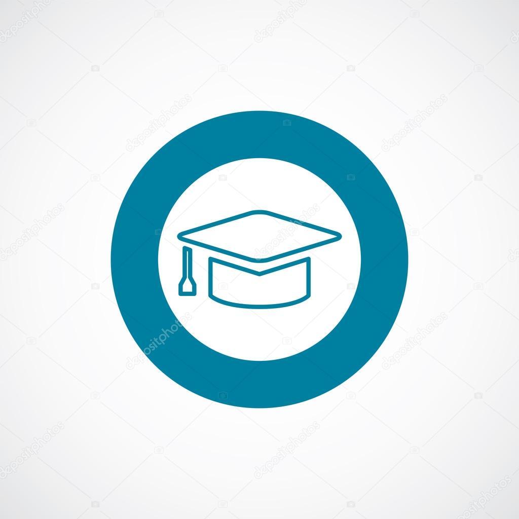 education icon bold blue circle border