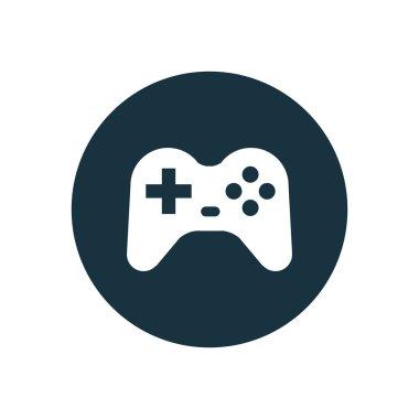 Joystick icon on white backgroun stock vector
