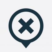 Zavřete ikonu mapa pin