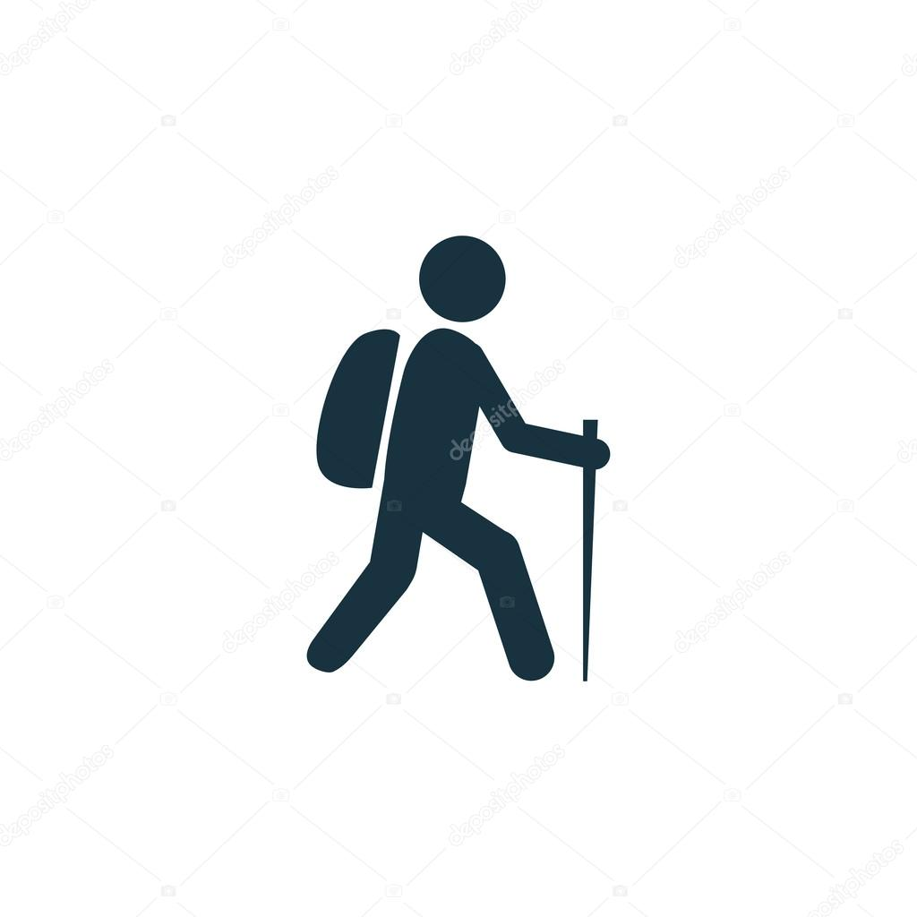 hiking icon — Stock Vector © rashad_ashurov #68124009