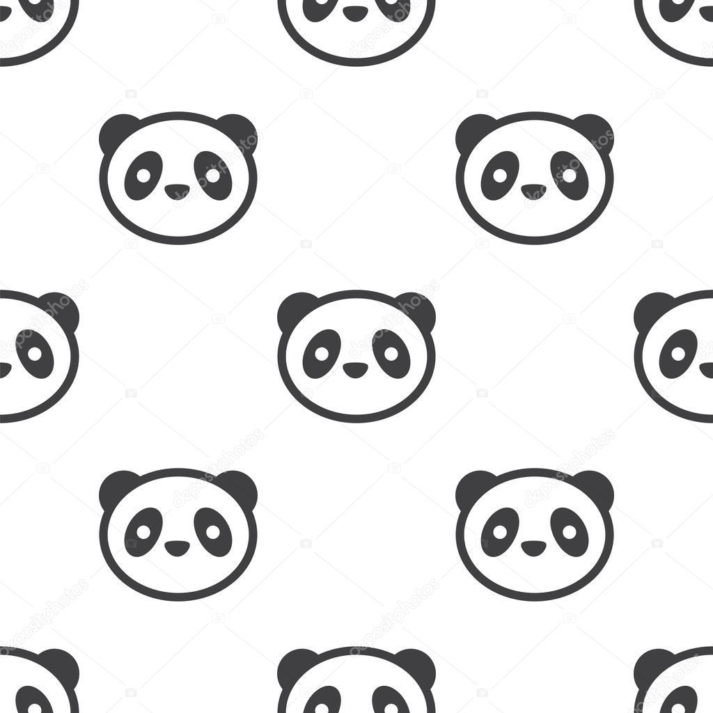 Panda, patrón transparente de vector — Archivo Imágenes Vectoriales ...