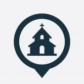 církevní ikonu mapa pin
