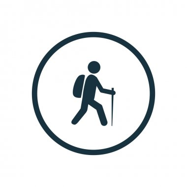 hiking icon circle shape