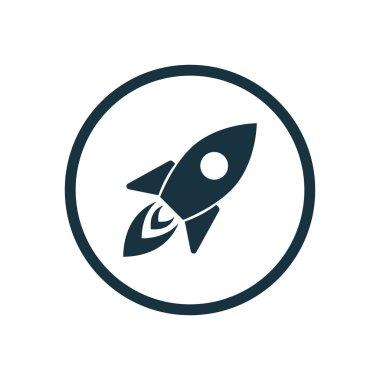 rocket icon circle shape