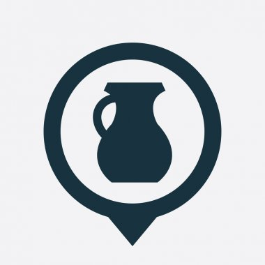 pitcher icon map pin