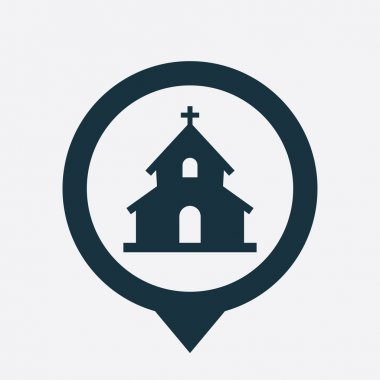 church icon map pin