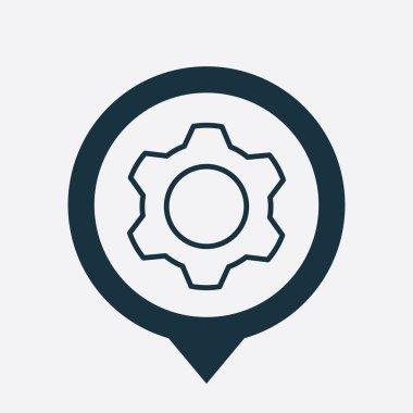 settings icon map pin
