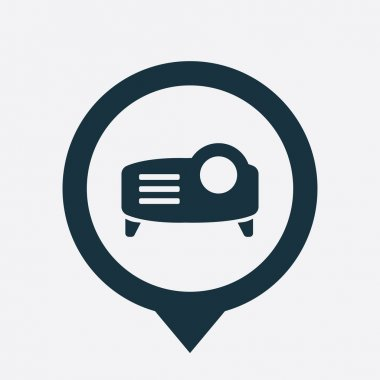 projector icon map pin
