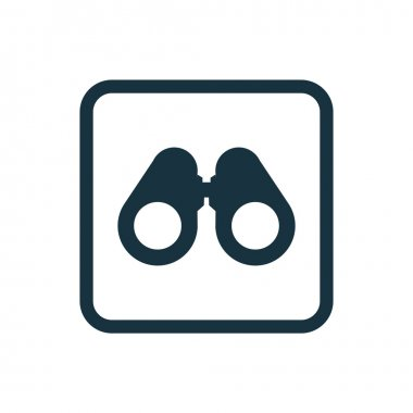 binoculars icon Rounded squares butto