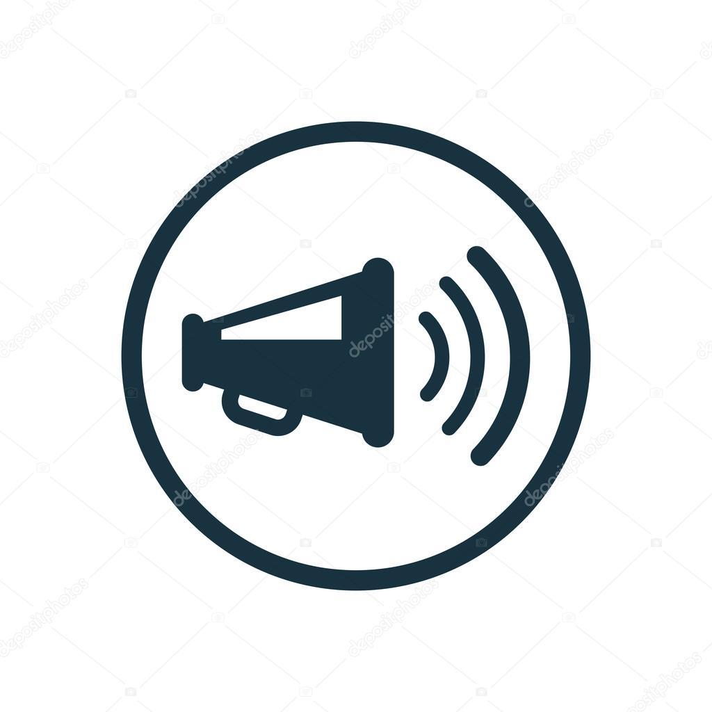 loudspeaker icon — Stock Vector © rashad_ashurov #71990829