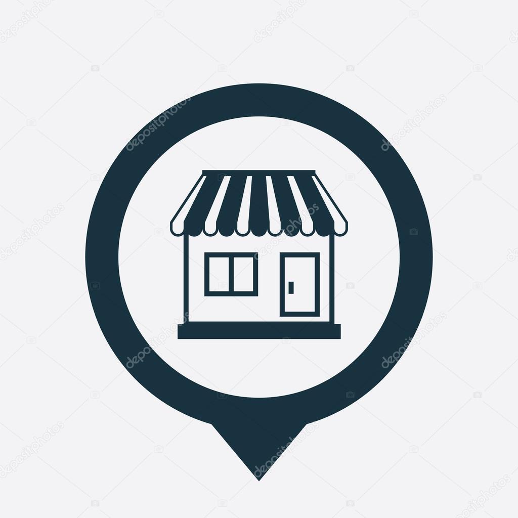 Shop icon map pin stock vector rashad ashurov 71992591 for Shop homepage
