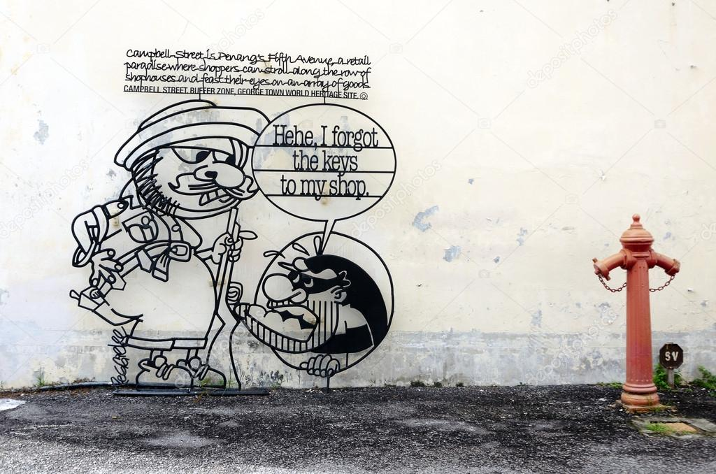 Penang-Draht-Kunst — Redaktionelles Stockfoto © nop16 #80336374