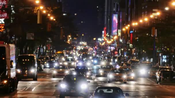 Osvětlené New Yorku dálnice