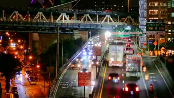 Illuminated New York City Highway