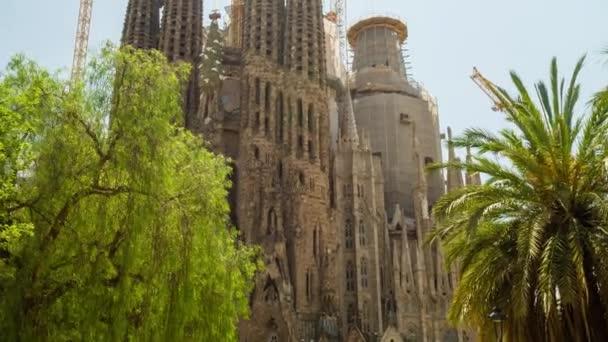 Katedrála Sagrada Familia v Barceloně Španělsko exteriér