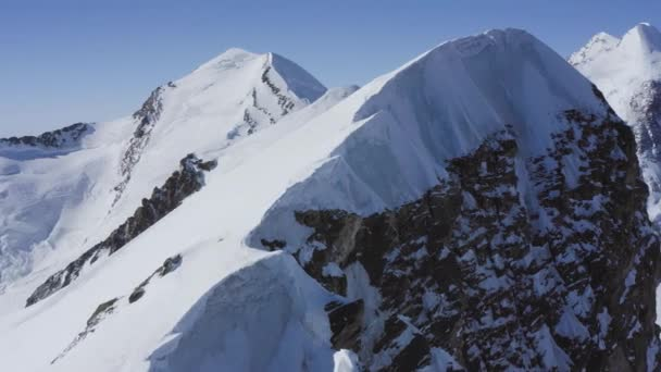 Majestic Drone Aerial Flight Over Swiss Mountain Range Mountaineering GodS View 4k Slow Motion