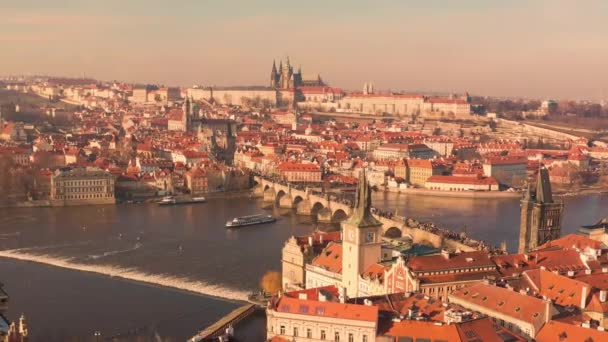 Aerial Hyperlapse Flight Over Europe City Budapest At Dusk Morning Holiday Downtown Lifestyle Slow Motion Low Light
