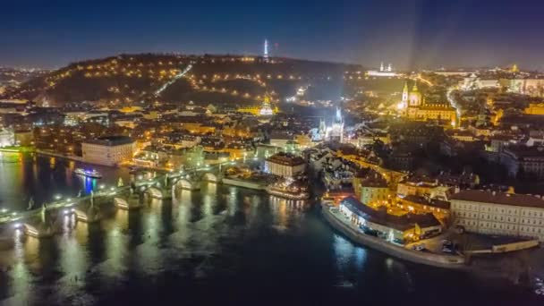 Hyperlapse Aerial Of Europe Bridge Urban Landscape At Night Euro Vacation Humanity Low Light Hdr
