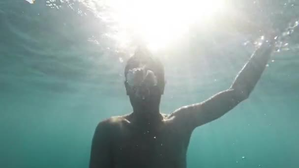 Young Man Drowning Sinking Deep Ocean Sea Business Failure Dark Depression Despair Fantasy Falling Floating Dream Nightmare Gopro HD