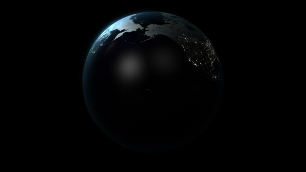 3D Planet Earth Rotating Loop Background with Alpha Channel 3D HD