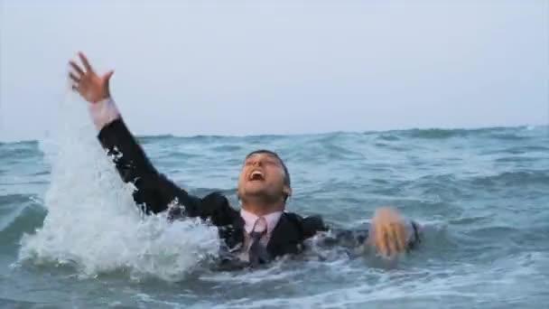 Businessman Drowning HD