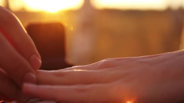 Putting on Engagemnt Ring Marriage Proposal