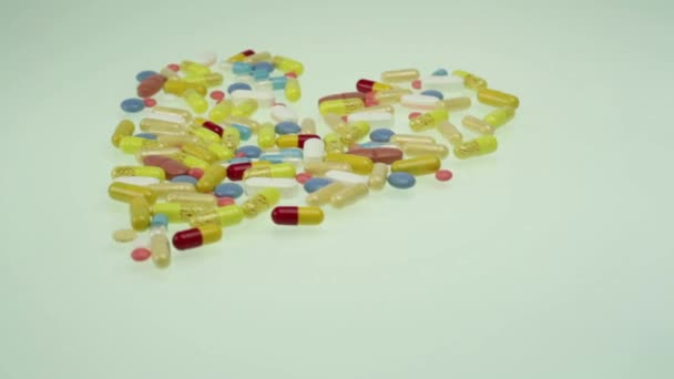 Heart Shape Colorful Pills Health Medicine Concept