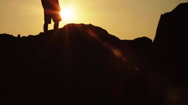 Man on a top of hill