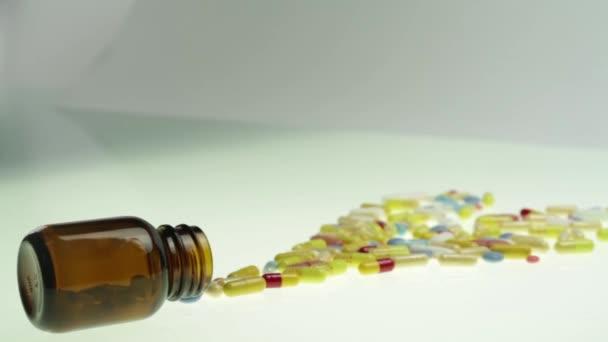 Heart Shape of colourful pills