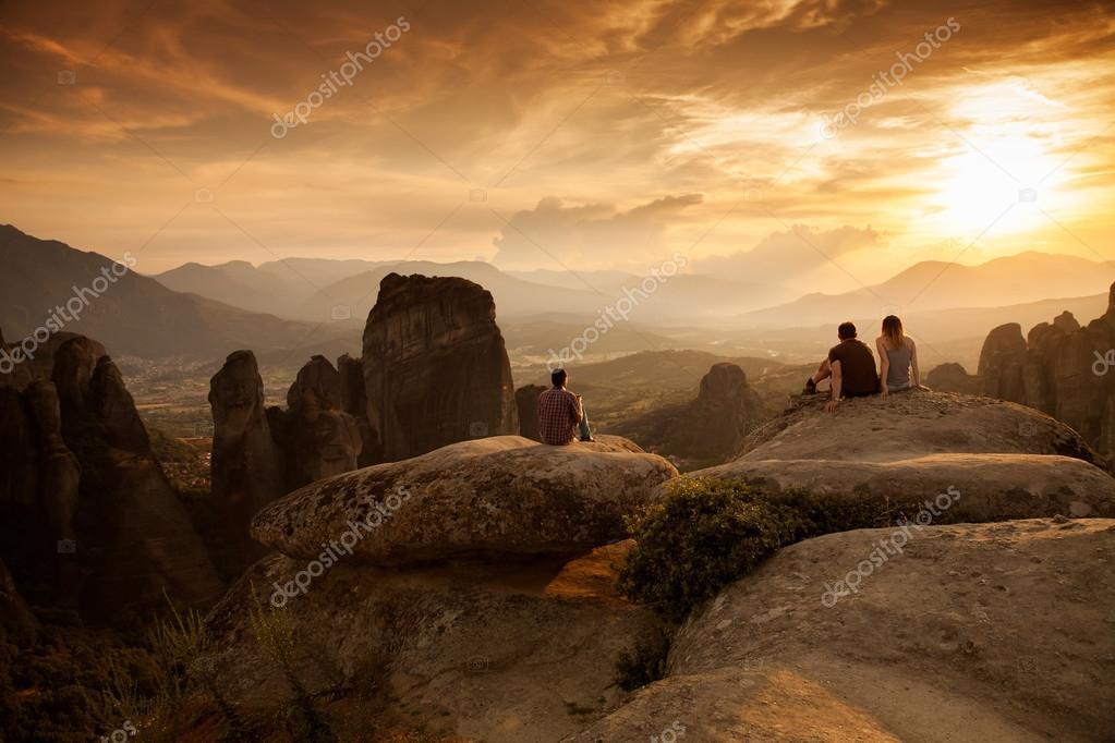 Meteora Monasteries on the sunse